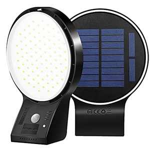 Solar Lights Outdoor, High Lumen Motion Sensor Outdoor Lights with 4 Working Modes, 2600mAh Solar Security Lights, IP65 Waterproof LED Solar Powered Wall Lights for Yard Garden Porch Patio