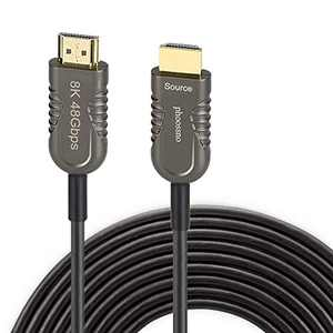 Certified 8K Fiber Optical HDMI 2.1 Cable Ultra High Speed HDMI Cable 48Gbps 50ft 15m phoossno HDR eARC HDCP2.2 2.3 Support 4K 120Hz 8K60Hz Compatible with PS5 Xbox TV Monitor PC