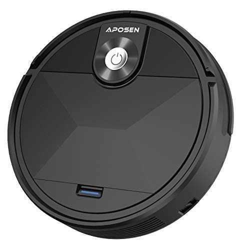 APOSEN Vacuum Cleaner Robot, Auto Robotic Vacuums, Upgraded 6D Collision Sensor, Self-Charging, Super Quiet Cleaning Robot for Pet Hair, Hard Floor, Low Pile Carpets
