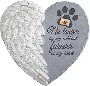 Nothers Memorial Stone for pet with Picture(Optional)-Sympathy Garden Marker-Pet Memorial - Dog Memorial - Cat Memorial (for pet-Fast delivery)