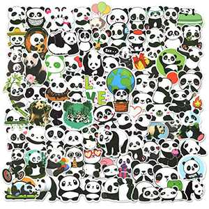 Cute Panda Stickers for Kids 100 PCS, Waterproof Vinyl Cartoon Stickers Animal Decals for Laptop Water Bottles Skateboard Luggage Bumper Scrapbook Mug Tumbler, Sticker Gift for Teens Adults