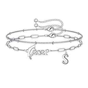 Yoosteel 2021 Graduation Gifts Friendship Bracelets, Layered Beaded Bracelets for Women Inspirational Bracelets College Graduation Gifts for Her Him Layered Bracelets for Women