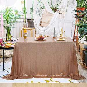 """PartyDelight Sequin Tablecloth (Rose Gold, 50""""x50"""")"""