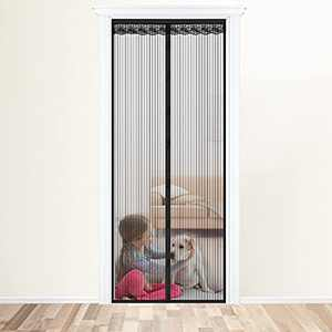 Magnetic Screen Door 39 x 83 Inch, Bug Fly Mosquito Net Durable Heavy-Duty Mesh, Automatically Close Full Frame Door Curtain, Kid & Pet Dog Friendly