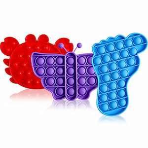 Yuqre Pop Cheap Toys 3 Pack, Friendly Silicone Materials, Great for Kids and Adults