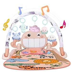 Lictin Baby Play Mat, Baby Gym Mat Toys with Multi-Function, Activity Play Mat with Piano, Baby Play Gym Activity Mat, Gymini Mat with Music&Light