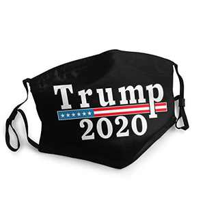 Trump 2020 Unisex Face Balaclava Bandana Face Cover Windproof Reusable cloth Adjustable Mask Elastic Strap with 2 Filters Made In USA