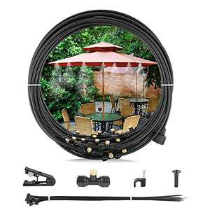 """Esther Beauty Misting Cooling System,50 Ft (15M) Misting Line,16 Brass Mist Nozzles + Adapter (3/4""""), Outdoor Mister System for Patio Garden"""