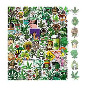 420 Stickers for Adult Weed&Stickers - Waterproof Marijuana Leaves Sticker 50pcs Vinyl Decal for Water Bottle, Laptop, Hydro Flask, Bumper Stickers Car Graffiti Stickers