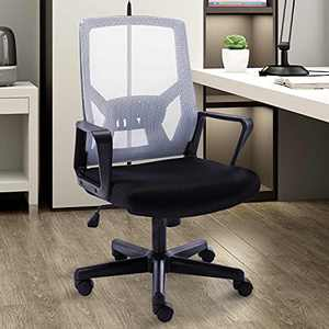 Ergonomic Office Chair with Foldable Backrest, Mesh Home Office Computer Task Desk Chairs with Adjustable Height,Lumbar Suppor and 360 Degree Universal Wheels (White)