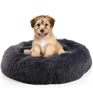 Calming Dog Bed for Small Dogs, Comfortable Donut Dog Bed, Washable Round Pet Bed for Dogs and Cats, Ultra Soft Fluffy Dog Bed, Self Warming Dog Bed, Premium Quality Plush Dog Bed Cuddler