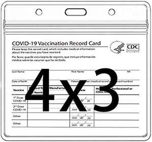 Vaccination Card Protector 4 X 3 ID Card Name Tag Badge Cards Holder Clear Vinyl Plastic Sleeve (3 pcs Card)