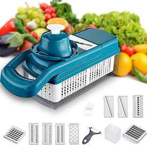 Pruk Multifunctional Vegetable Chopper Set, 14 in 1 Food Chopper with Practical Kitchen Gadgets, Onion Chopper with Multi Blades