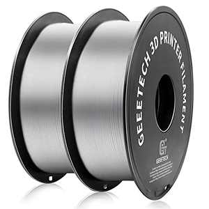 Geeetech PETG Filament 1.75mm, Upgrade Stronger Toughness Printing Consumables, Diameter Tolerance +/- 0.03 mm, 1 KG (2.2 LBS) Spool Fit Most FDM 3D Printer, White,2-Pack