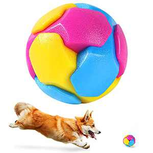 Dog Toys Squeaky Ball, CFinke Dog Fetch Ball Small Squeaky Toys for Bounce and Play, Teeth Cleaning, Agility Training for Cats Puppy Small Medium Dogs, Safe Rubber Soft Dog Balls for Indoor/Outdoor