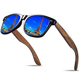 Kithdia Handmade Bamboo Wood Sunglasses For Men and Women With Polarized Lens - Wooden Sunglasses S7061