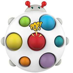 GNZREAI Simple Dimple Fidget Toy, Rainbow Silicone Pop Bubble Fidget Sensory Toy, LadybugDimple pop Board Toys, Stress Relief Anti-Anxiety Sensory Fidget Toys for Children