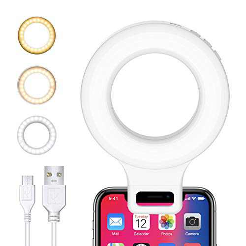 Selfie Ring Light for Phone, Kimwood Clip on Laptop Light for Video Conferencing for Phone, Computer, Conference Lighting, Photography, Recording (60 LED, 3 Models)