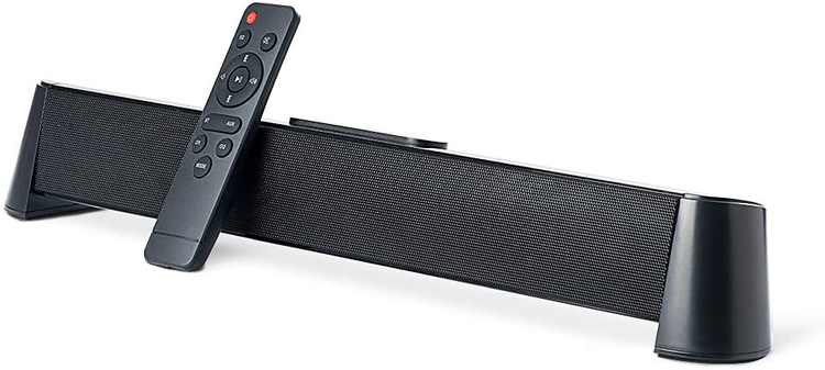 """Soundbar 20"""" TV Speaker 5.0 Bluetooth Device with Remote Control Available with Wired or Wireless Connection Soundbar for TV PC Mobile USB(20 Inch)"""
