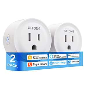 Homekit Smart Plug,2 Pack WiFi Mini Outlet Work with Apple Siri Alexa Google Home Tuya Smart SmartThings,Timer Remote Control MFi