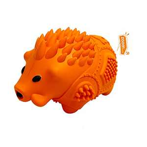 IOKHEIRA Dog Chew Toys, Rubber Wild Boar Dog Toy for Small Dogs, Orange Dog Squeaky Toy, Dog Chew Toy for Chewers Large Breed, and Small Breed, Milk Flavor