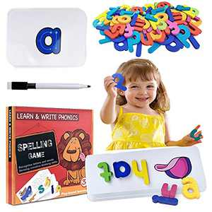 Sight Words Flash Cards Kindergarten Preschool: Spelling Games for Kids Ages 3-5 Learning Educational Montessori Kids Toys Gifts for 3 4 5 6 Year Old Boys Girls Alphabet Matching Letter Games