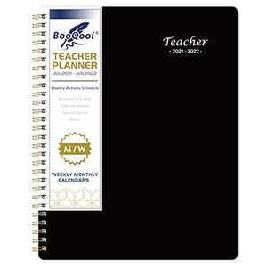 Teacher Planner 2021-2022 - Professional Academic Lesson Teacher Planner from July. 2021 - June. 2022, 8'' x 10'', Great Teacher Gifts, Classic Black, Soft PP Cover
