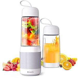 Personal Portable Blender for Smoothies and Shakes, GiieeGii 4000mAh USB rechargeable Blender for Ice, Fresh Juice,Mini Portable Blender for Home, Office, Travel, Sports, and Outdoor