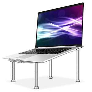 Gulito Laptop Stand for Desk, Aluminum Computer Riser, Detachable Laptop Elevator, Laptop Stand Adjustable Height Suitable for 10 to 17.3 Inches Notebook Computer