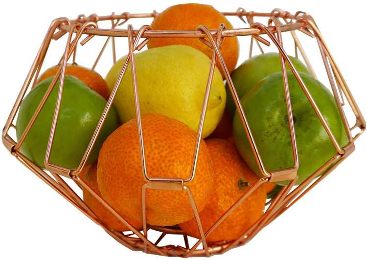 Multifunction Fruit Basket Foldable Fruit Bowl Stainless Steel Various Shapes Wire Deformable Fruit Plate Nordic Style Decoration Modern Funky Shapes Kitchen Table Storage Organizer
