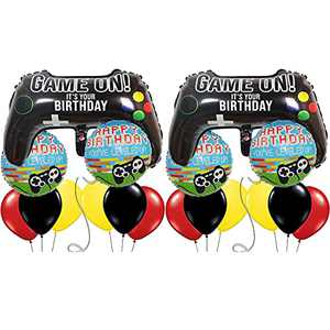 Video Game Party Balloons for Boys Decorations, Larger Game on Balloons Video Game Controller Decor Party Supplies (2 Pcs)