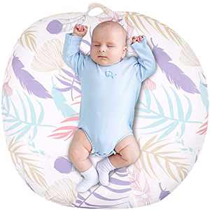 Baby Lounger Cover for Boys and Girls, Leaf Slipcover for Infant Lounger, Lounger Pillow Case for Newborn, Babynest Cover for Boys & Girls, Lovey Super Soft Snug Fitted, (Lounger Pillow Not Included)