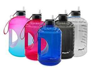 iHopeNu Large 1 Gallon Motivational Water Bottle with Lids Leakproof BPA Free Tritan Sports Water Jug with Time Marker (Blue, 1 Gallon)