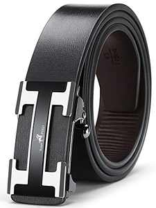 Men's Genuine Leather Ratchet Dress Belt Adjustable With Automatic Buckle Men Belts Casual