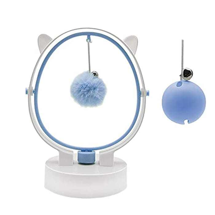 TMYIOYC Cat Toys, Interactive Ball Bell Cat Toy, Automatic Kinetic Swing Electronic Kitten Toys, Cat Toy for Indoor Cats, Funny Gifts for Cats