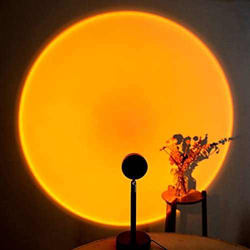 Sunset Projection Lamp Sunset Lamp LED Night Light Projector,90 Degree Rotation Sunset Projection Lamp USB Sunset Lamp Projector,Bedroom Decoration, Home Party Sunset Projection Lamp