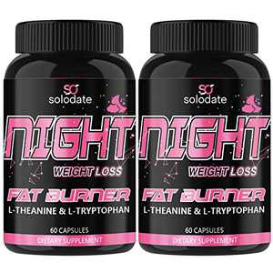 2 Pack Night Time Fat Burner,Appetite Suppressant and Sleep Aid Supplement,Boost Metabolism,Weight Loss Pills for Women and Men