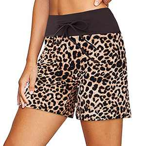 ZOOSIXX Women's Casual Shorts with Drawstring Loose Comfy Lounge Sleep Pajama Shorts