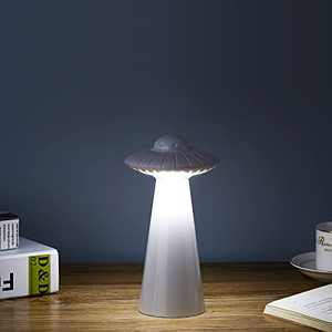 LED Desk Lamp for Kids Child, UFO Table Lamps Cordless Eye-Caring Night Light with 20 Brightness Levels, USB Charging, 360° Rotation Adjustment & 3 Lighting Modes for Working, Reading, Camping