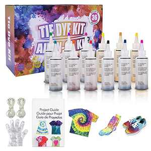 Behomy Tie-Dye Kit | Fabric Dye, 5 Colors Shirt Dye Kit for Kids, Adults, User-Friendly, Activities Supplies DIY Dyeing Kit, All in One Creative Tie-Dye Kit Perfect for Party Group (12 Colors)