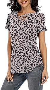 T&Twenties Women's Fashion Shirt V-Neck Irregular Hem Tunic Casual Sleeveless/Short Sleeve/Long Sleeve Shirts