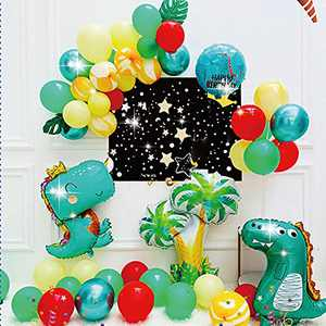 Dinosaur Birthday Party Balloons Decorations for Boys Party, Large Dino Balloons Party Supplies (Set)