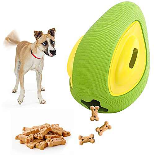 Dog Chew Toys for Aggressive Chewer, Indestructible Dog Chew Toys for Small Medium Large Breed - Dog Toothbrush Chew Dental Teething Chewing (Green Avocado)