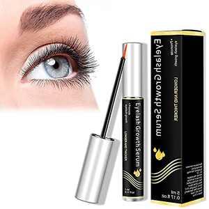 Eyelash Growth Serum, LONFORCE Lash Serum, Non-Irritating, Pure Natural, Rapid Lash Eyelash Growth Serum, Compound Peptide & Plant Extract for Longer, Fuller Thicker Lashes & Brows(5ML)