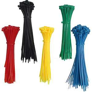 Colored Zip Ties 6 inch Multi-Color Zip Cable Ties 500pcs Assorted Colors Self-Locking Zip Cable Ties Black,Red,Yellow, Blue,Green Zip Ties for Deco Mesh Wreath Supplies,Outdoor and Home