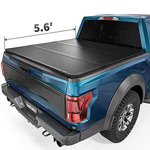 oEdRo Hard Trifold Truck Bed Tonneau Cover On Top Compatible with 2015-2021 Ford F150 F-150, Styleside 5.6 Feet Bed