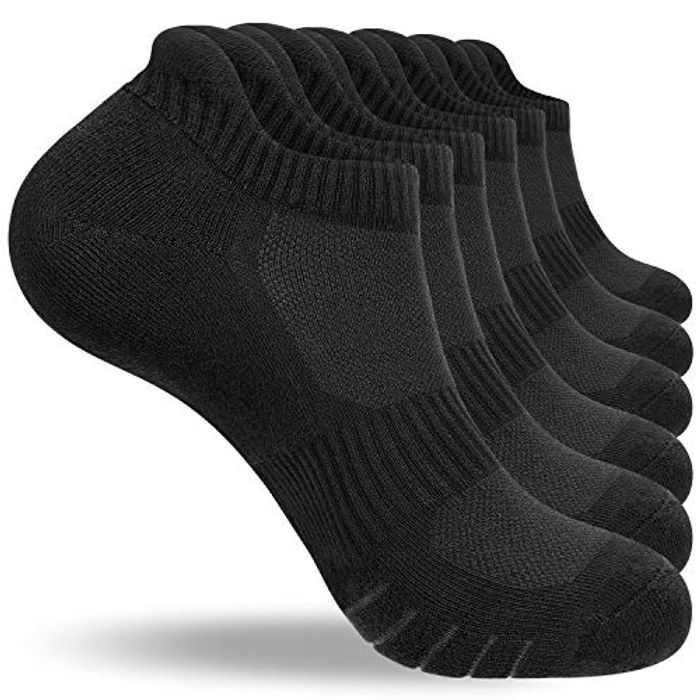 Natugloe Running Socks 6 Pairs Cushioned Trainer Socks Anti-blister Odor-free Cotton Sports Ankle Socks Low Cut Athletic Socks for Men Women Ladies
