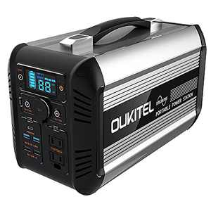 OUKITEL Portable Power Station 615Wh 19200mAh Solar Outdoor Generator,LiFePO4 Mobile Lithium Battery Pack Silent Energy Storage Power Supply with 500W