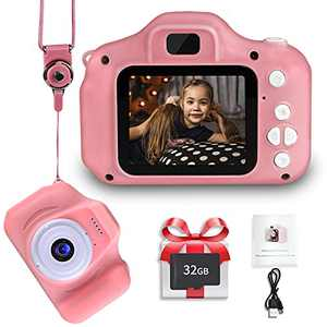 Kids Digital Camera for Boys Girls, LANXUN Birthday for 3 4 5 6 7 8 Year Old, 1080P HD Toy Camera for Toddler,Digital Video Cameras for Children with 32GB SD Card