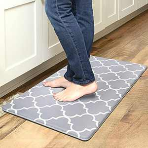 """EARTHALL Kitchen Mat Cushioned Anti-Fatigue Kitchen Rug, 17.3""""x30"""", Long Anti-Fatigue Kitchen Rug, Waterproof, Non-Slip, Standing Kitchen Mat, Cushioned Runner with Support for Your Feet"""